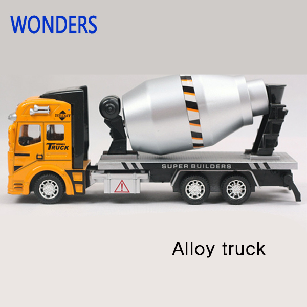 Pull Back Model Car Transport Truck Alloy Metal Cement tanker alloy truck model children gift educational toy(China (Mainland))