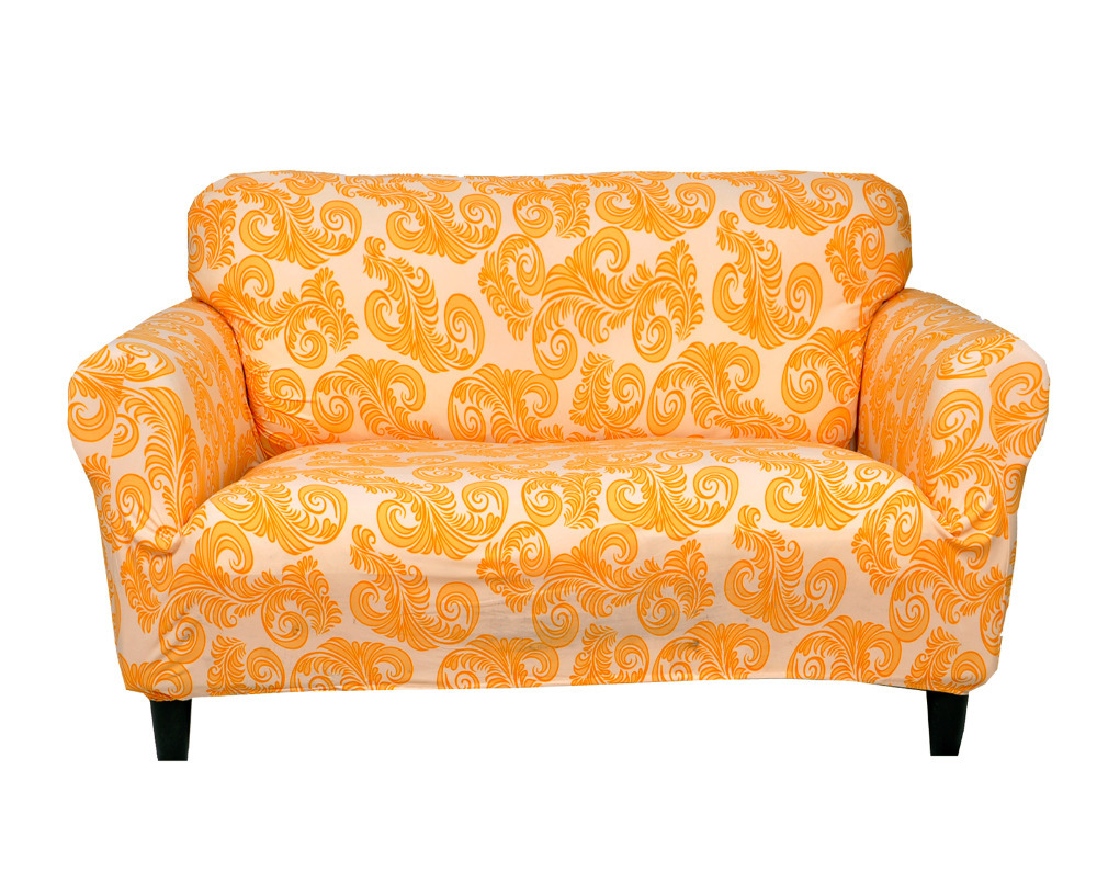 drawing room decoration printed fabric sofa covers