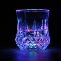 1Pc LED Flashing Glowing Water Liquid Activated Light up Wine Glass Cup Mug Party