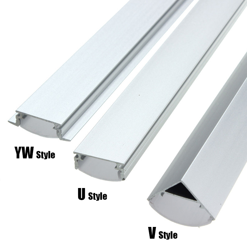 Mising 30/50cm U/V/YW-Style Shaped LED Bar Lights Aluminum Channel Holder Milk Cover End Up Accessories for LED Strip Light(China (Mainland))