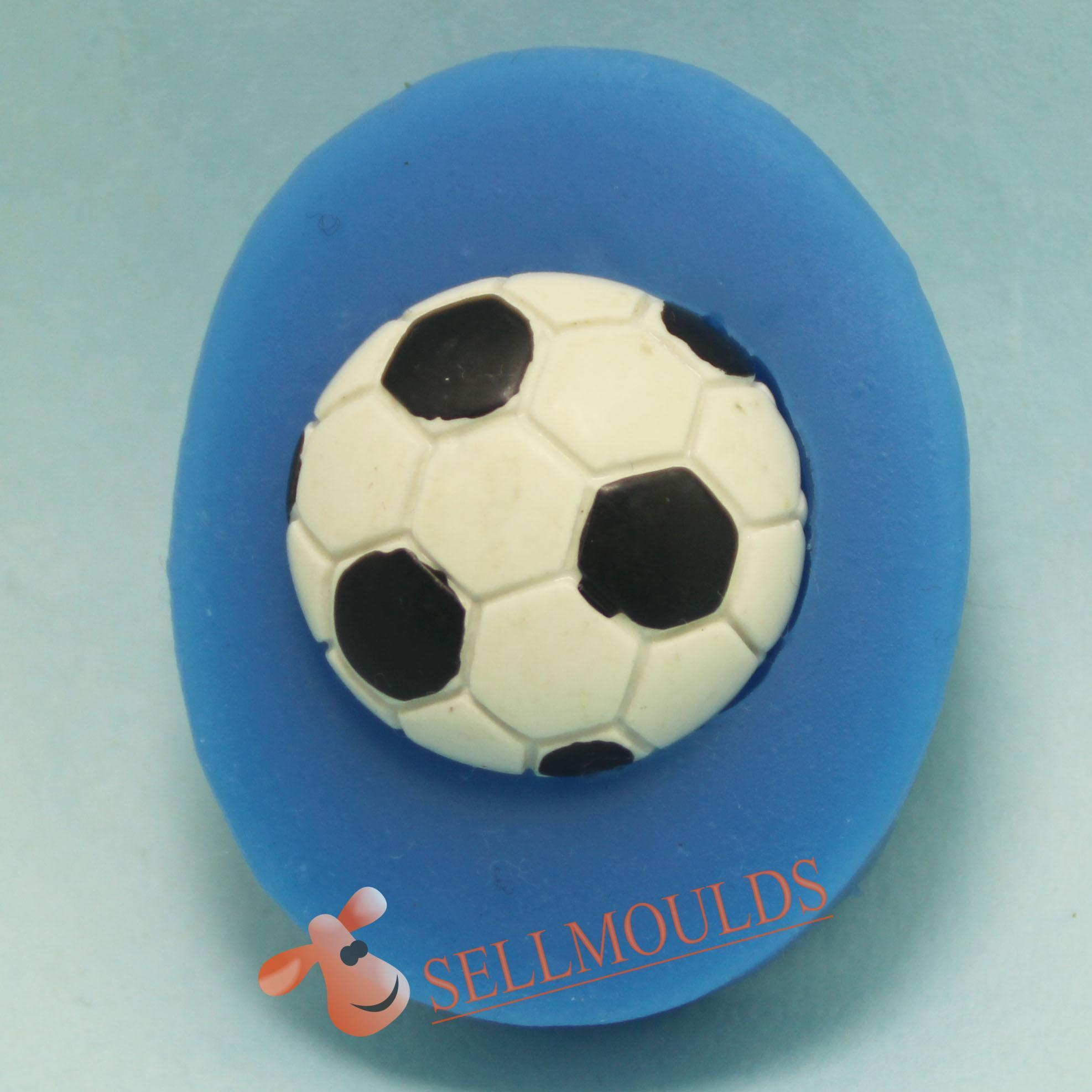Fondant Cake Silicone Molds : Football-chocolate-silicone-mold-Handmade-Fondant-Cake ...