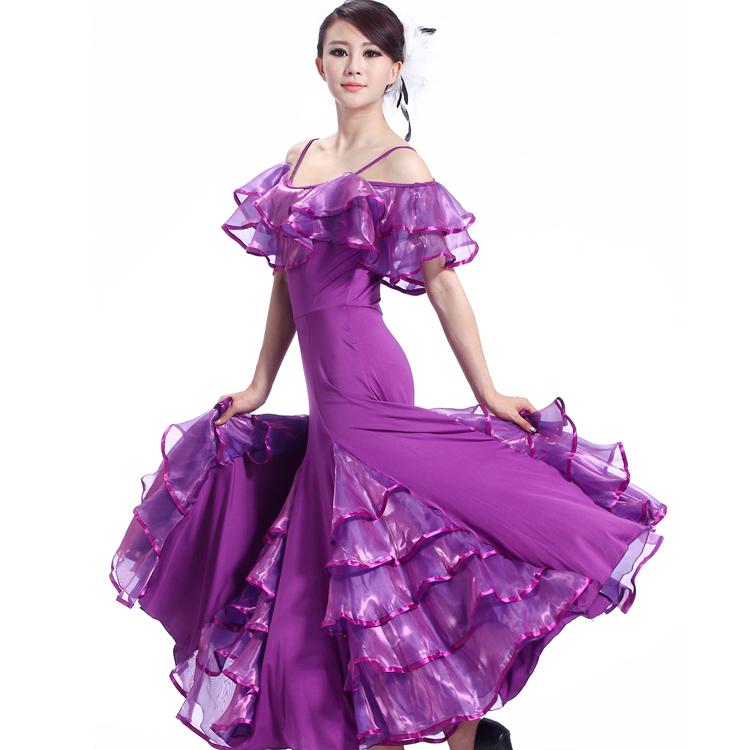 Nuevos Trajes De Baile Sexy Spandex Vestido de Baile de salón para Las Mujeres Vestidos de Baile Dance Competition