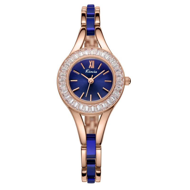 KIMIO New Lady Watch Fashion Design Rhinestone Case Analog Display Quartz Watch Women Wristwatch relogio(China (Mainland))