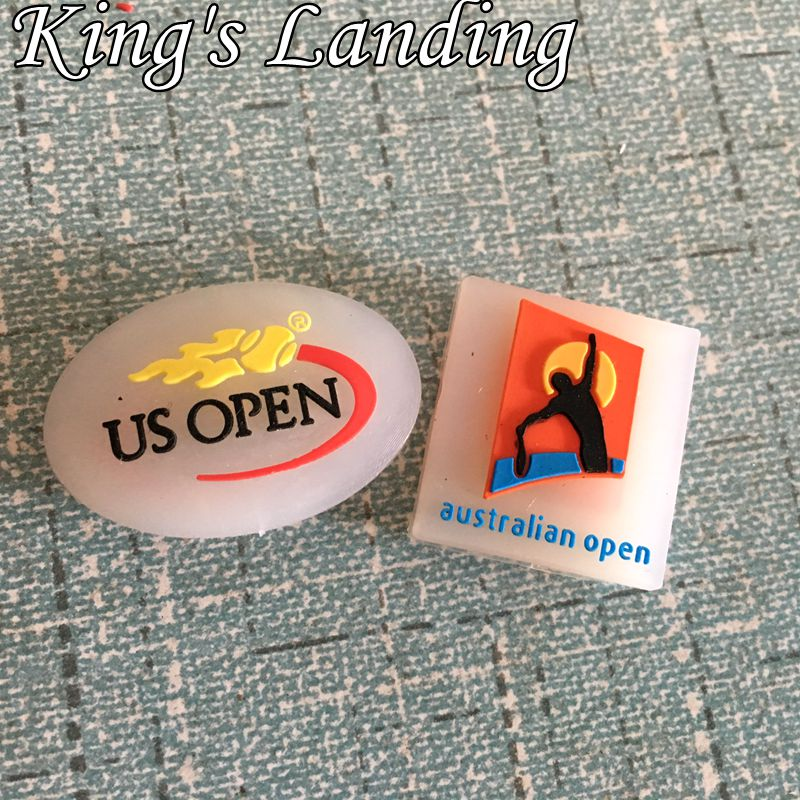 Assorted (50pcs/Lot)Australian open US OPEN Tennis vibration dampener/Tennis Racket Vibration Dampeners/tennis racquet(China (Mainland))