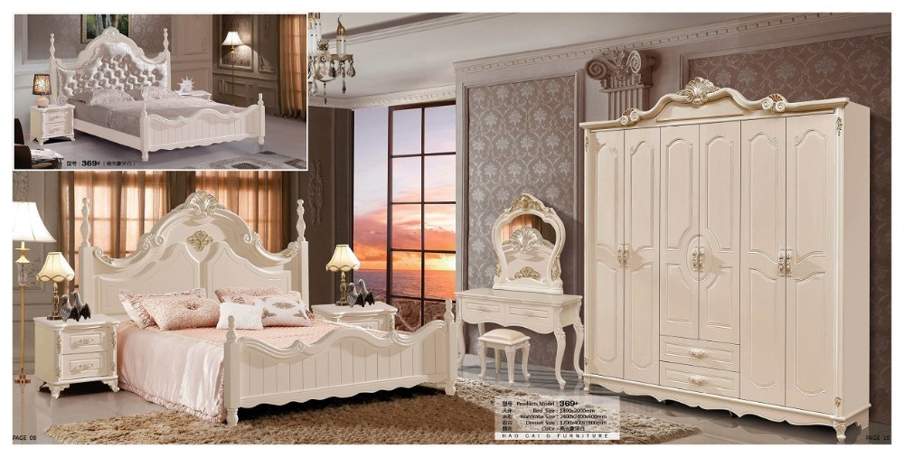modern european solid wood bed Fashion Carved leather french bedroom set furniture king size HC00110(China (Mainland))