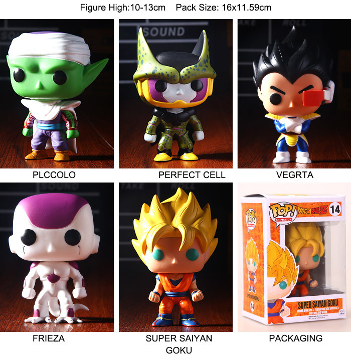 Dragon Ball Z FUNKO POP Series Son Goku Vegeta Piccolo Freeza Cell 5pcs/set PVC Action Figure Collectible Model Toy Freeshipping(China (Mainland))