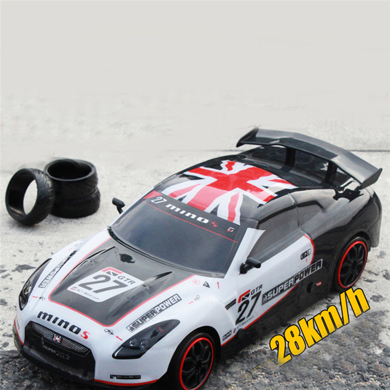 High Speed Rc Car Rubber Racing Tire 1:18 4WD Electric Chassis Shaft-Drive Remote Controlled Car for Kids(China (Mainland))