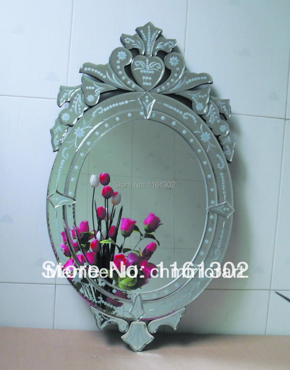Mr 201061 cheap venetian wall mirror in mirrors from home for Miroir venitien pas cher
