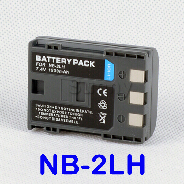 Rechargeable Lithium Ion Battery Pack For Canon NB-2LH and Canon EOS 400D, 350D and EOS Digital Rebel XT, XTi Digital SLR Camera(China (Mainland))