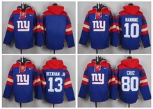 MEN New York Giants Eli Manning Odell Beckham Jr eli apple Victor Cruz Custom Sweater hoodies Hoody Sweatershirt Pullove(China (Mainland))