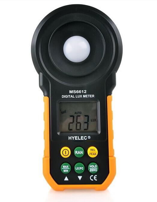 Digital LCD Lux Light Meter Lux / FC Luxmeter Illuminance Photometer 0~200000 Lux Test Spectra Auto Range