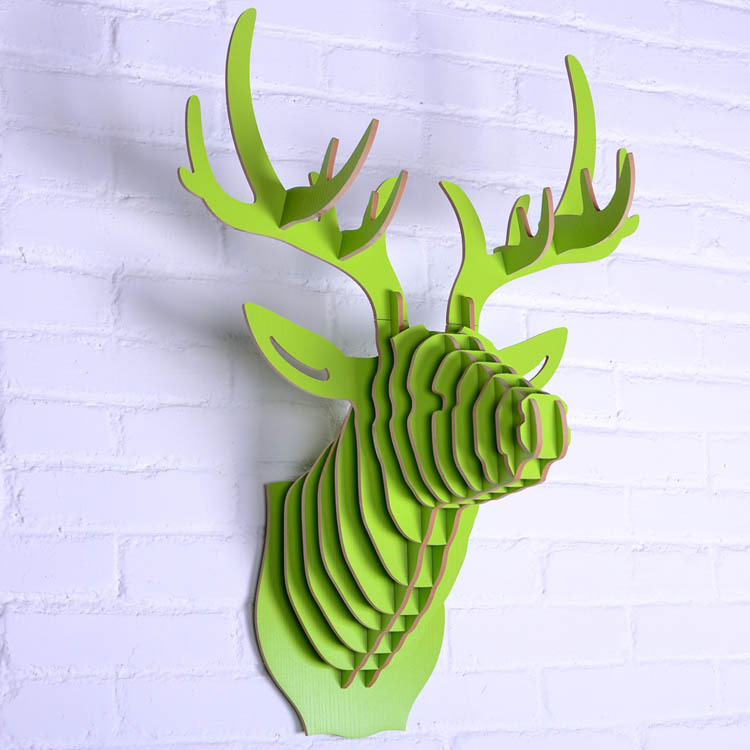 Buy deer head wall decoration wooden for Animal head wall decoration