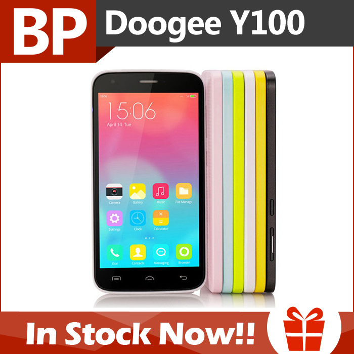 Original DOOGEE VALENCIA2 Y100 5 Inch HD IPS MTK6592 Octa Core Android 4.4 Mobile Cell Phone 13MP CAM 1GB RAM 8GB ROM In Stock(China (Mainland))