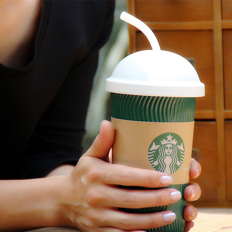 Free Shipping Creative Starbucks Ceramic Cup Starbucks Leisure Tea Milk(China (Mainland))