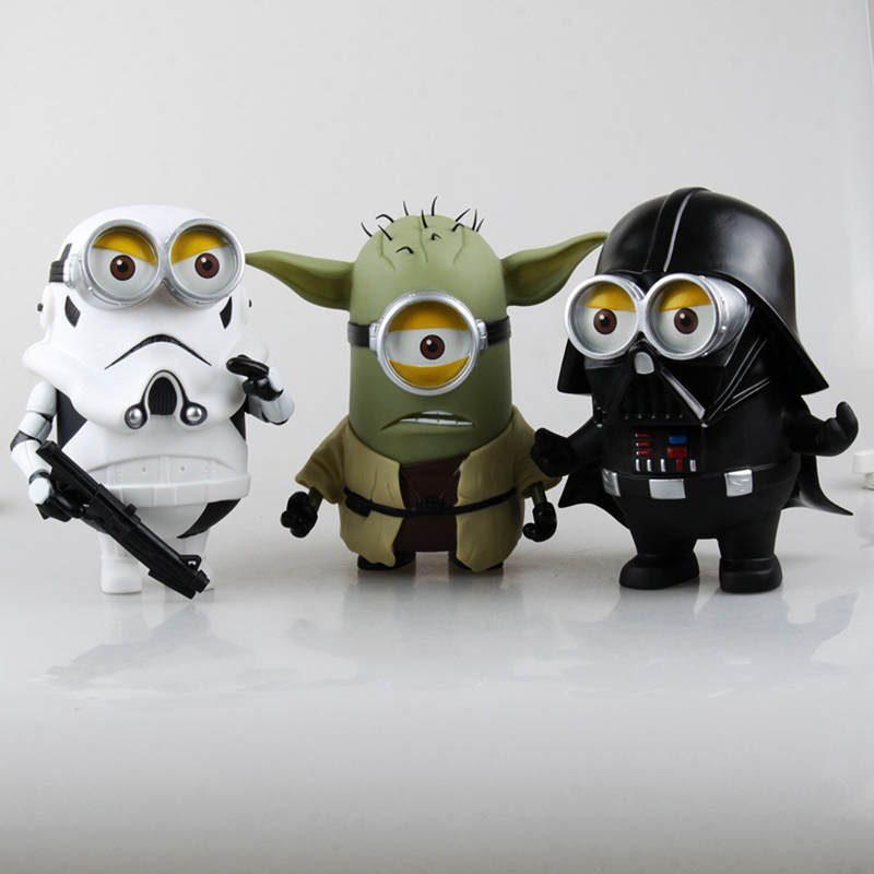 Despicable Me Minion cos Star Wars Darth Maul Darth Vader Stormtrooper Luke Skywalker PVC Minions Action Figures Toys kids gifts