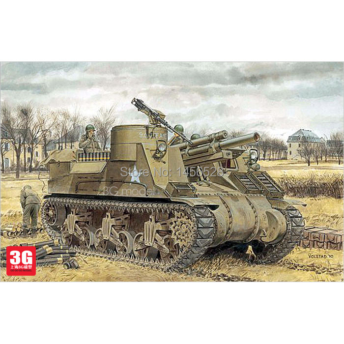 Dragon scale model 6637 1/35 scale tank vehicle American Tank M7 assembly Model kits scale models building tank kits(China (Mainland))
