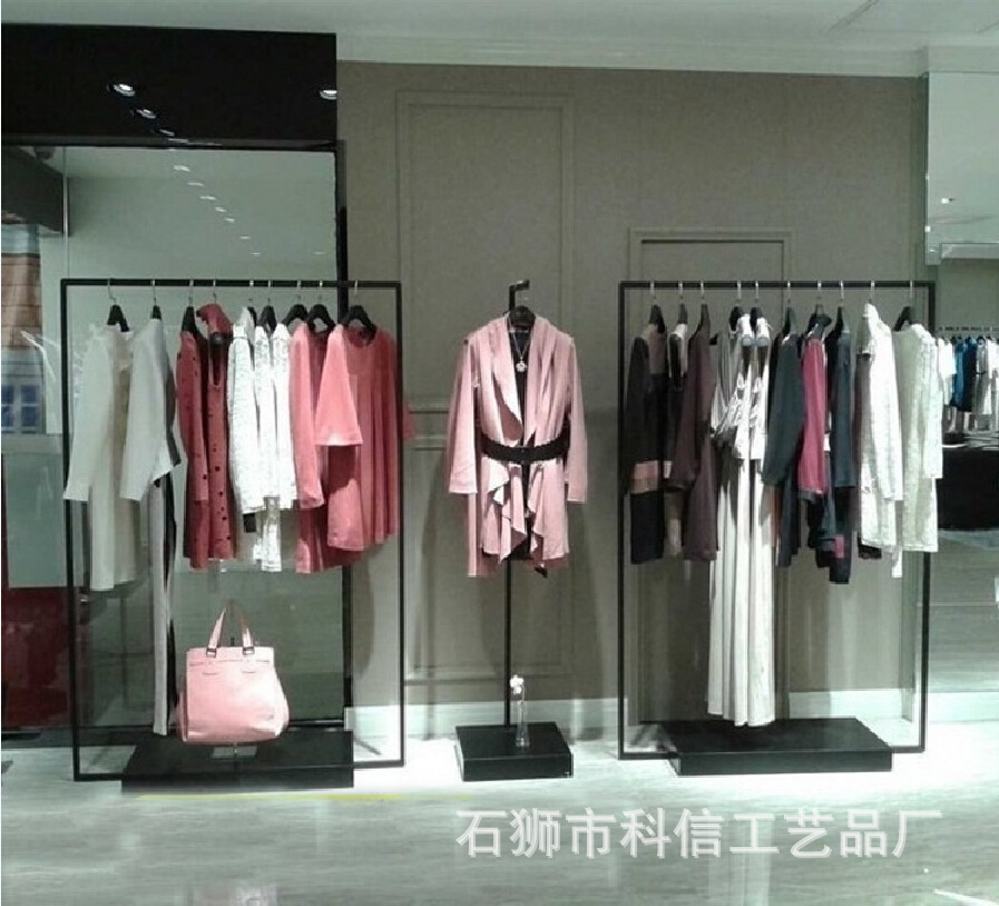 Floor clothes clothing display racks clothing display rack C Iron shelf upscale clothing store for men and women<br><br>Aliexpress