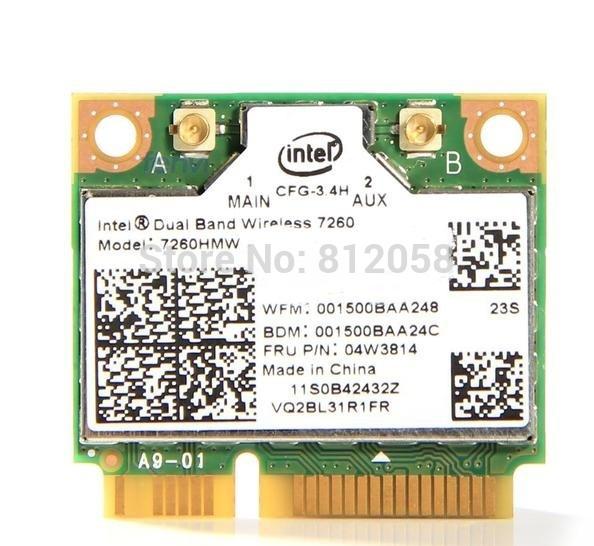 NEW Network Card for Intel Dual Band Wireless-AC 7260 7260HMW 7260AC 2.4G/5G Wifi Bluetooth 4.0 card for IBM Lenovo 04W3814(China (Mainland))