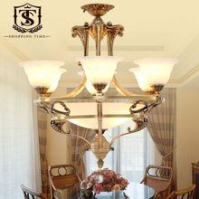 New Design E27 Led Copper Glass Chandelier BL8002-6(China (Mainland))