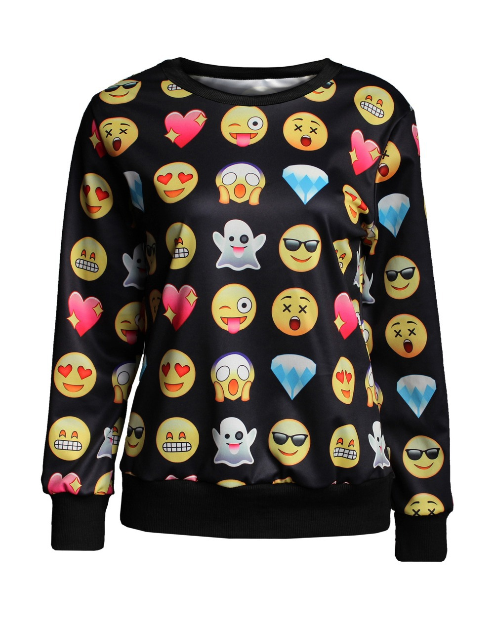 Gagaopt HOT 2014 New gaps Women/men100 emoji hoodie print Pullover emoticons funny hoodie sweatshirt clothes sudaderas mujer(China (Mainland))