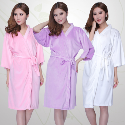 Free shipping woman bath towel bathrobe nightgown toweling(China (Mainland))