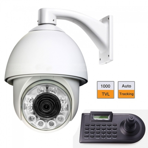 "6"" 1000TVL Auto Tracking High Speed Dome PTZ Camera w/ 4 Axle Keyboard Controller(China (Mainland))"