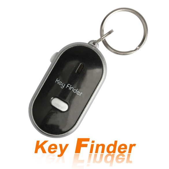 Sound Whistle Control Key Finder Find the Lost Key Keychain Locator With LED Torch Key Rings E#CH(China (Mainland))