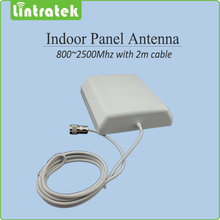 800-2500mhz  2G 3G Indoor Panel antenna with 2m cable indoor Antenna for Mobile Signal Booster