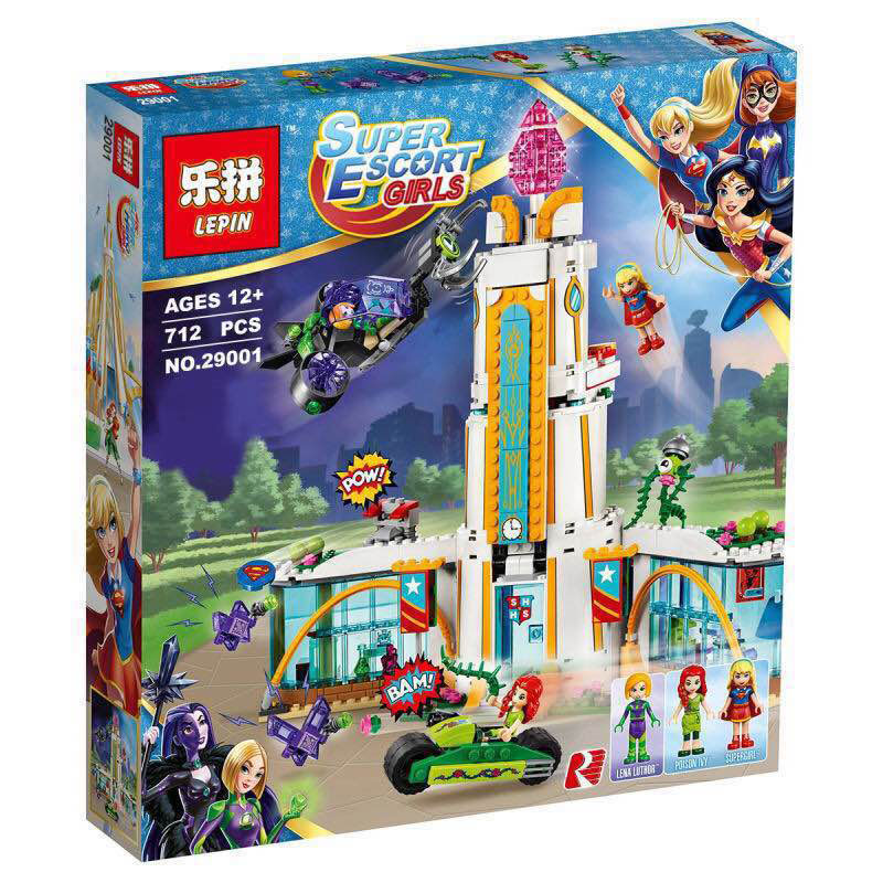 Lepin 29001 712Pcs Girl Series The Super Hero High School Set Children Educational Building Blocks Brick Toys Model Gift 41232(China (Mainland))