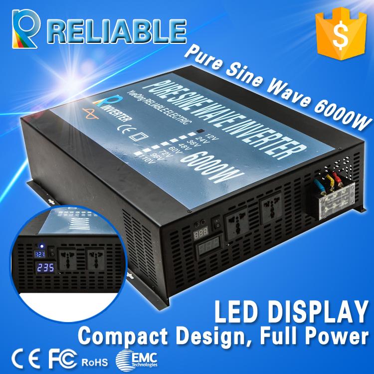 6000w Full Power off grid inverter DC to AC Voltage Converter Pure Sine Wave Solar Power Inverter home supply transformer(China (Mainland))