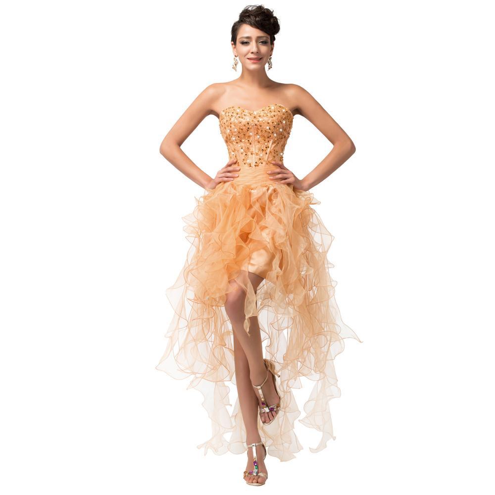 Gold Prom Dresses Short - Ocodea.com