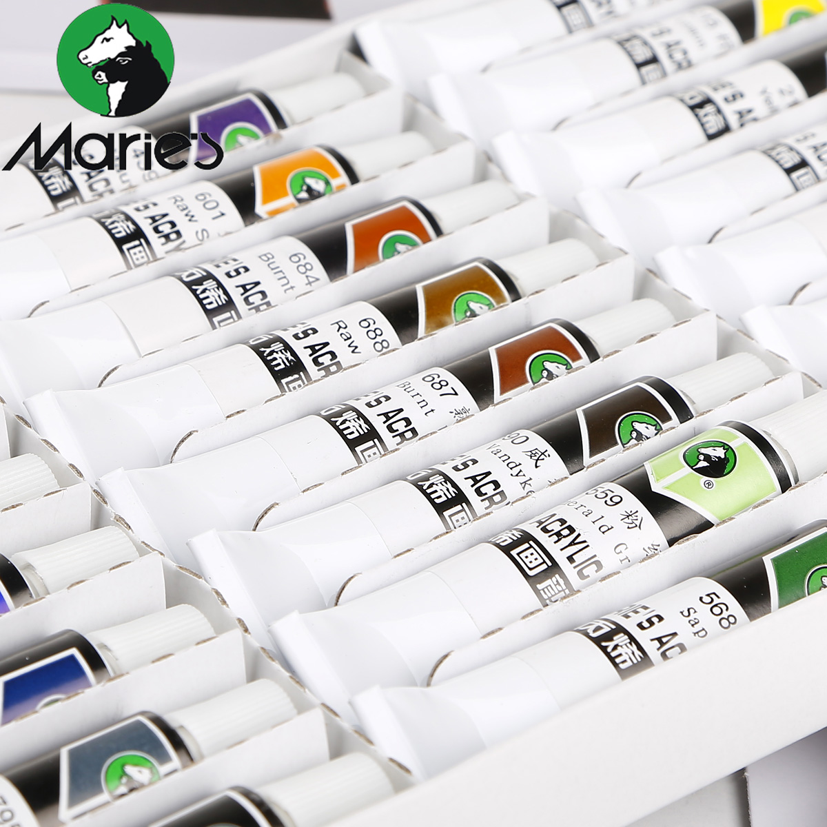 Freeshipping Marie's 18 color 12ml acrylic pigment waterproof textile painted wall pigment