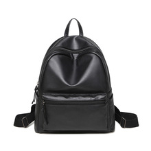 Buy 2017 Korean Style Designer Women Leather Backpack Black Bookbag Mochila Mujer De Couro Feminina Back Pack Female PU Leather Bags for $19.99 in AliExpress store
