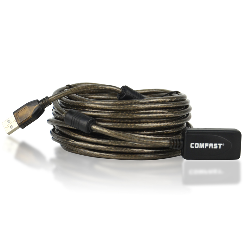Comfast CF-U10 USB extension ling high speed 10M usb cable with usb signal power amplifier free shipping wireless usb adapter u1(China (Mainland))