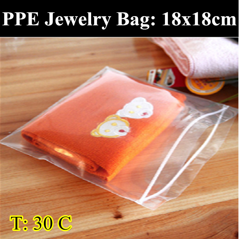 PPE-30pcs/lot 18cm*18cm 0.30mm Thickness Self Adhesive Seal Plastic Pouch,Resealable Retail Bags,Clothes/Underwear Bag(China (Mainland))