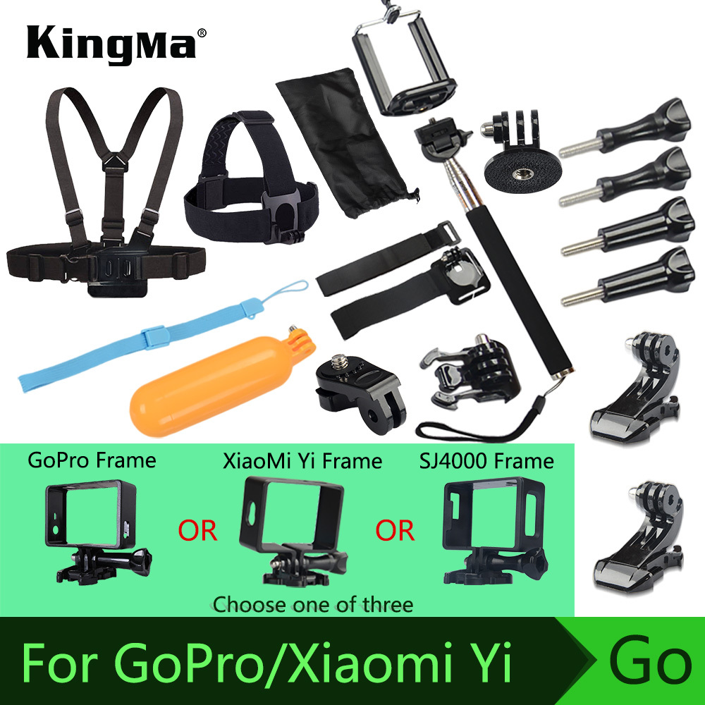 Gopro Accessories For Xiaomi yi Sj4000 Go pro Hero 1 2 3 4 Floating Bobber Selfie stick Monopod Hand Head Chest Strap Adapter(China (Mainland))