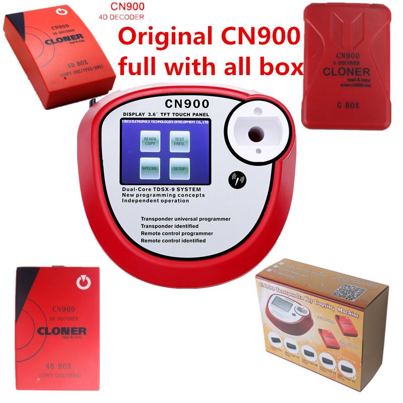DHL Free Shipping 100% Original CN900 Key Programmer with Toyota G Box/46/4D Decoder Clone Box Full Set Support Toyota G chip<br><br>Aliexpress