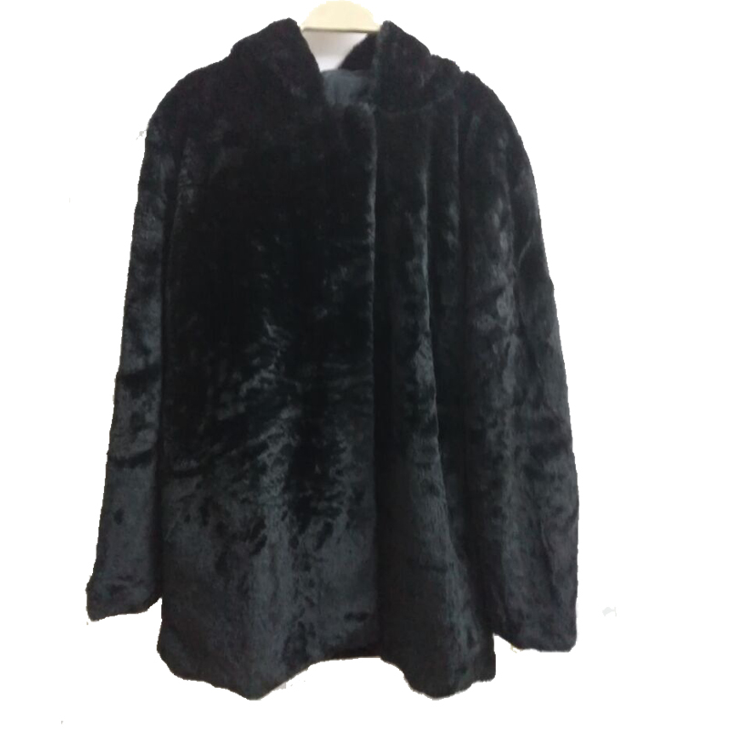 Hot quilted thick woolen cocoon 2016 new winter black coat Girls long paragraph loose silhouette thick woolen coat women(China (Mainland))