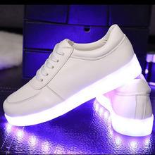 Nuevos 2016 Zapatos de Las Mujeres Los Hombres Chaussures Zapato de Luz LED Lumineuse Moda Casual Schoenen Para Adultos Tenis De Luminoso Femme Homme