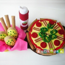 Pretend Kitchen Food Set Play Food Pattern material bag DIY Fruit Set Play Kitchen Accessories Kitchen and Learning Set Baby Toy