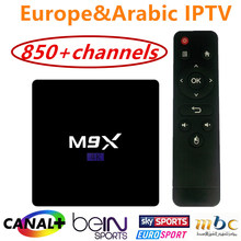 Quad core S905 M9X 4K Android 5.1 TV Box with 1 Year IPROTV 850+ Europe Arabic French Live TV Account IPTV Canal plus Sport(China (Mainland))