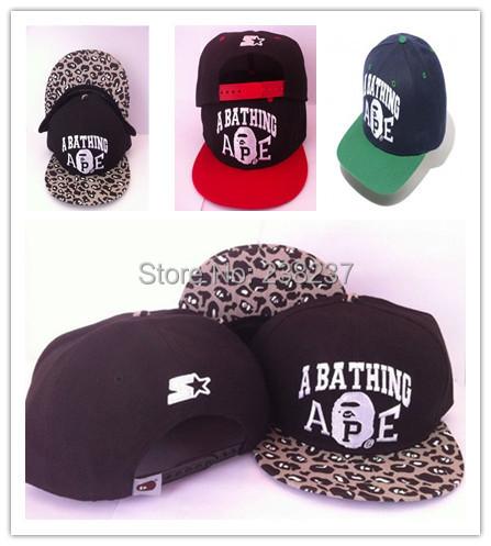 1pc/lot2014 Unisex Bape x StarterBBOY Snapback Hip Hop Cap Baseball Skateboard Hat YS9055
