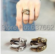 $10 (mix order) Free Shipping European and American Vintage Claw Finger Ring Clamp Cuff Gothic Punk R668 R669(China (Mainland))