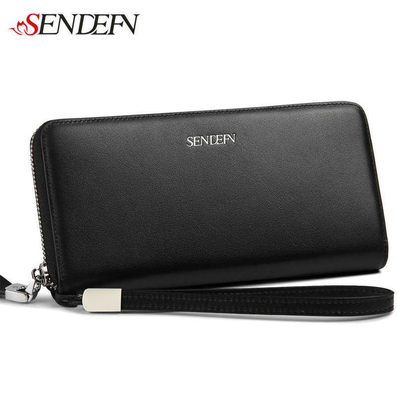 2016 NEW Korea Ladies Leather Wallet Brand Coin Purse Long Credit Cards Female Wallets Genuine Leather Money Zipper Wallet Phone