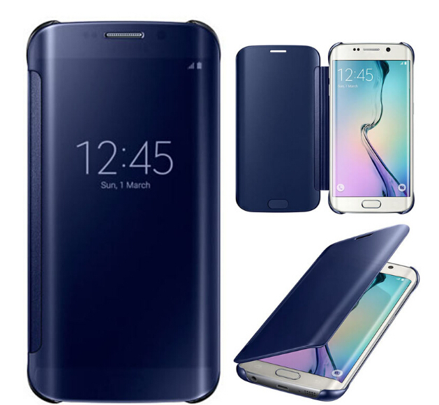 Original s6 edge Mirror Flip Smart Leather Case Cover Samsung Galaxy S6 Edge retail package Hot Sales - GSD Industrail Co.,Ltd store