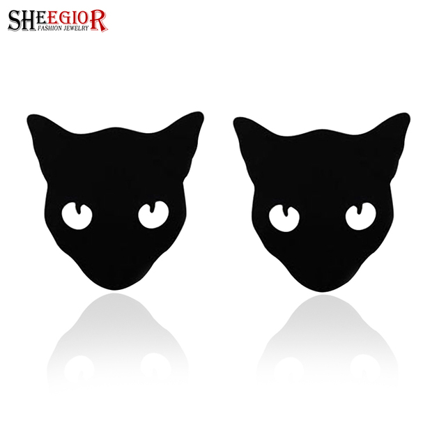 Brand cat brooch pins Metal alloy collar brooches for women lovely lapel pin broches jewelry fashion SHEEGIOR broche Accessories
