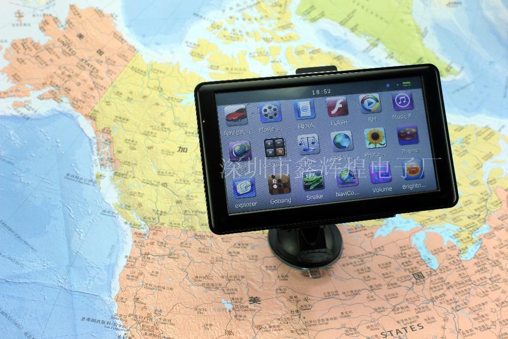 Portable 7'' car gps navigation,car navigator with 128MB  4GB,vehicle gps support Multi Language/IGO8 IGO9 NAVITEL maps(China (Mainland))