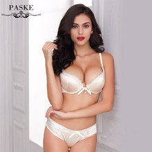 New brand noble lace silk glossy bra sets underwear push up bras with sexy lingerie set,drop shipping BS300