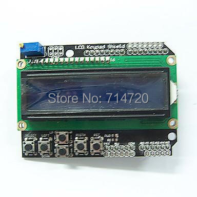 1602 LCD Board Keypad Shield Blue Backlight for Arduino Duemilanove Robot good(China (Mainland))