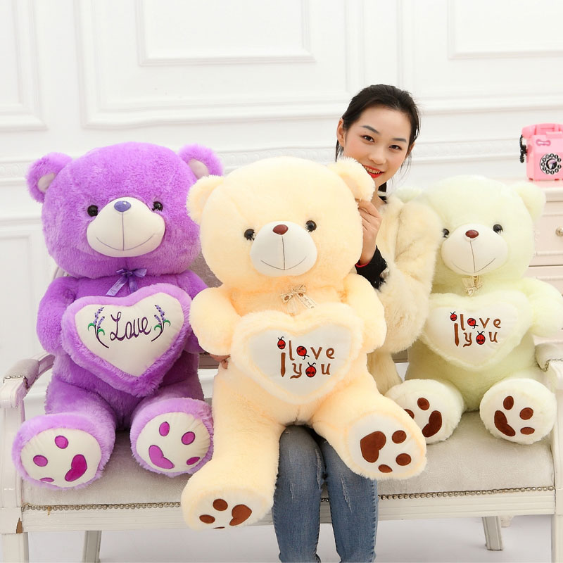 90CM High Quality Ted Bear Plush Dolls Teddy Bear 1m/big Embrace Bear Doll /Lovers/Christmas Girlfriends Hot Sales(China (Mainland))